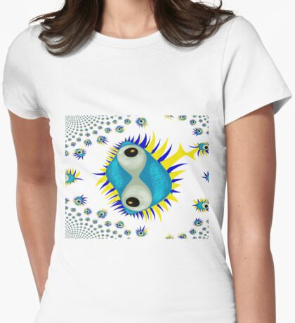 The Eyes of Mandelbrot Womens Fitted T-Shirt