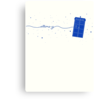 Allons-y to the TARDIS (in blue) Canvas Print