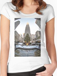 Christmas time in the city Women's Fitted Scoop T-Shirt