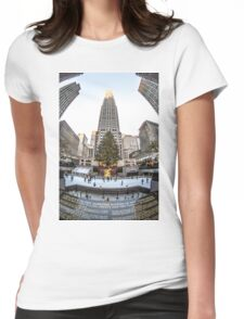 Christmas time in the city Womens Fitted T-Shirt