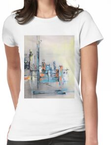 Abstract art mid-century modern Womens Fitted T-Shirt