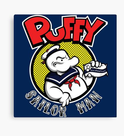 Puffy the Sailor Man Canvas Print