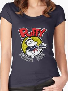 Puffy the Sailor Man Women's Fitted Scoop T-Shirt