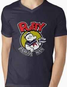 Puffy the Sailor Man Mens V-Neck T-Shirt