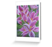 Gorgeous pink lilies Greeting Card