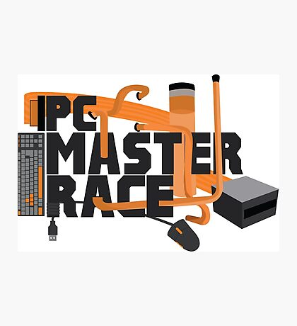 PC MASTER RACE - LOGO Photographic Print
