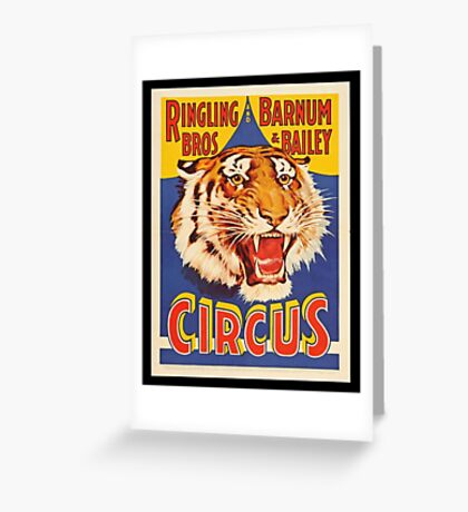 Ringling Brothers Vintage Poster Greeting Card