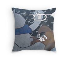 Melbourne - Ghost Patrol in Fitzroy Throw Pillow