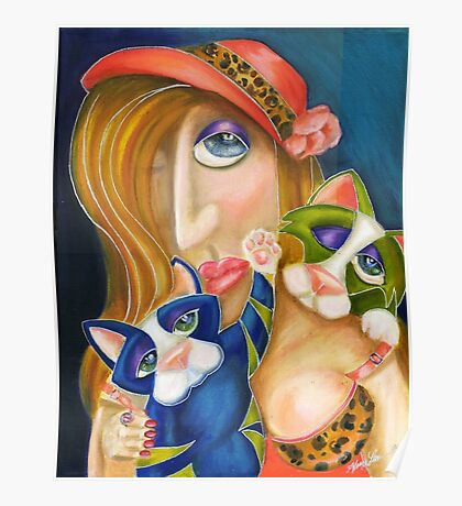 The Cat Lady, by Alma Lee Poster