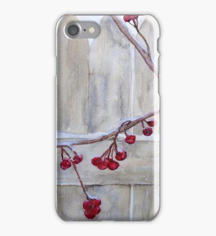 Winter Berries Watercolor iPhone Case/Skin