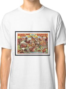 Retro Circus Poster with Animals Classic T-Shirt
