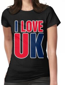 I Love UK Womens Fitted T-Shirt