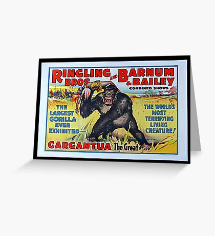 King Kong Style Circus Poster Greeting Card