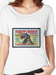 King Kong Style Circus Poster Women's Relaxed Fit T-Shirt