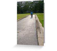 A Boy And His Bike Greeting Card