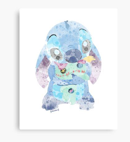 Watercolor Stitch Canvas Print