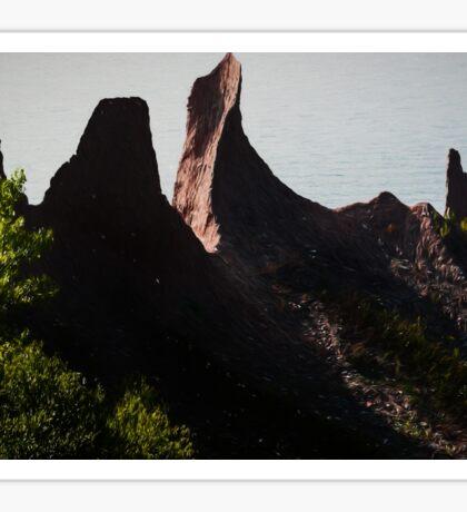 Seaside bluffs at dusk  Sticker