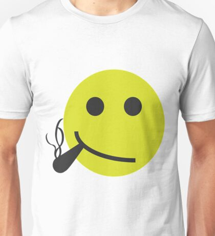 Smiley Smoking Cannabis T Shirt For Men Unisex T-Shirt