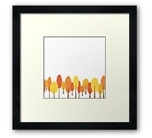 A small autumn forest Framed Print