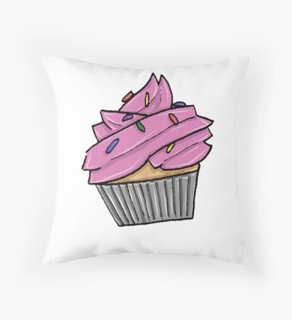 Cupcake with Sprinkles Throw Pillow