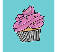 Cupcake with Sprinkles Photographic Print
