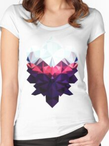 Crystal Golem Heart Women's Fitted Scoop T-Shirt