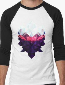 Crystal Golem Heart Men's Baseball ¾ T-Shirt