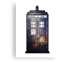 Galaxy TARDIS Canvas Print