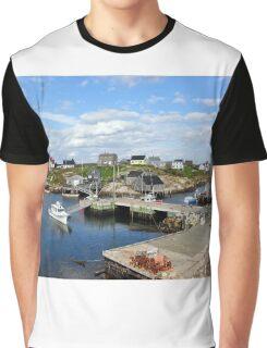 Peggy's Cove, Nova Scotia Graphic T-Shirt