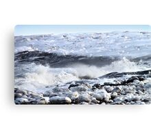 Breakers on the Shore Canvas Print