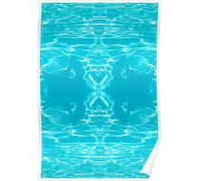 Water Hour Glass - pattern Poster