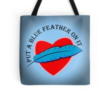Blue Feather Love Tote Bag