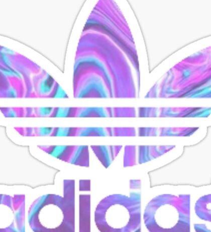 Purple Adidas Sticker Sticker