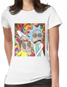 Psychedelic Rick and Morty  Womens Fitted T-Shirt