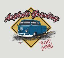 Asphalt Grinding Crew by evlwevl