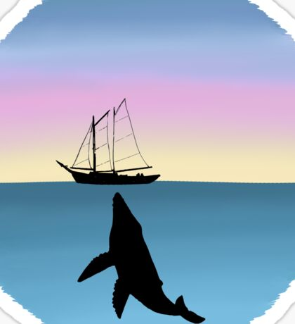Whale Sunset Sticker