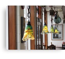 Hand Blown Lamps In Newport, Ore. Cafe Canvas Print