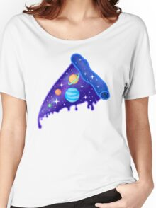 Cosmic Pizza Slice - Planets and Solar System Women's Relaxed Fit T-Shirt