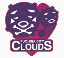 Fuchsia City Clouds Kids Clothes