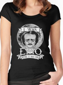 Edgar Allan Poe - I Was Emo Before it Was Cool Women's Fitted Scoop T-Shirt