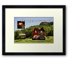 Anniversary ~ Dolls from Gladie Creek Framed Print