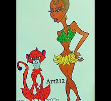 Josephine Baker by Art212Howard