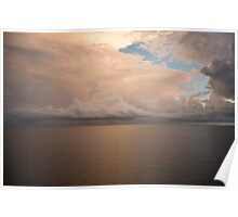 Sunset in the Java Sea Poster