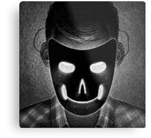 Drawlloween 2014: Mask Metal Print