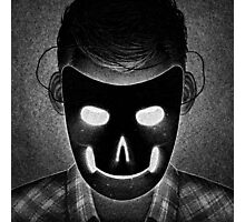 Drawlloween 2014: Mask Photographic Print