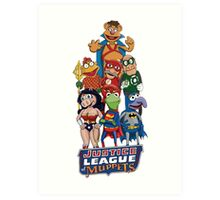 Justice League of Muppets Art Print