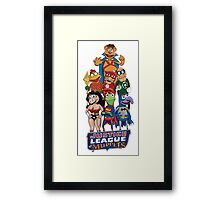Justice League of Muppets Framed Print