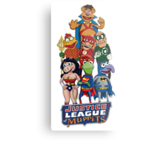 Justice League of Muppets Metal Print