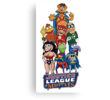 Justice League of Muppets Canvas Print