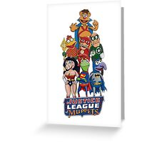 Justice League of Muppets Greeting Card